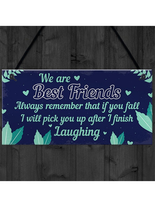 Funny Best Friend Sign Friendship Gift Hanging Thank You Plaque