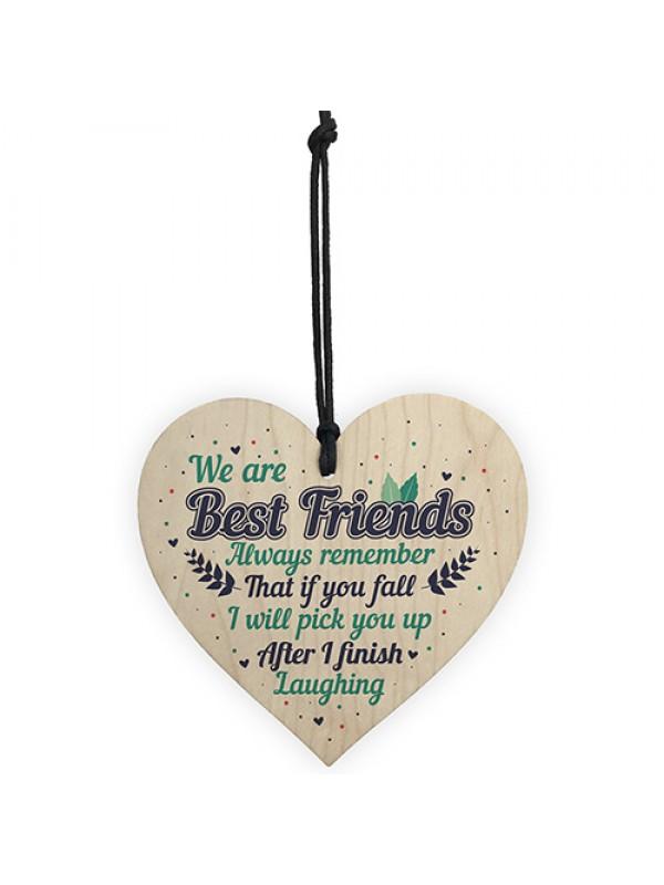 Best Friend Wood Heart Sign Christmas Gift For Friend Keepsake