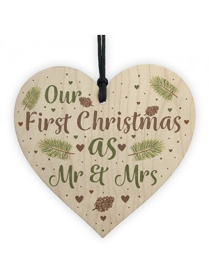 First Christmas Mr and Mrs Tree Bauble Wedding Anniversary Gifts