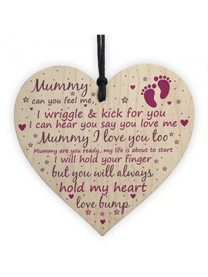 Mummy To Be Baby Shower Gift Wood Heart Keepsake Newborn Gift