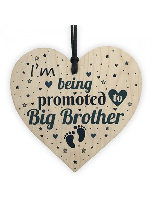 Big Brother Gift From Bump Wood Heart Newborn Baby Christmas