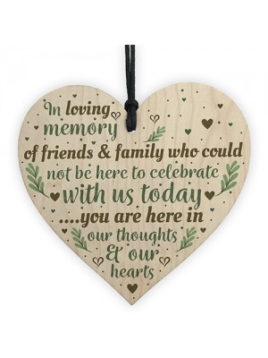 In Loving Memory Memorial Christmas Plaque Wooden Star Tree Gift