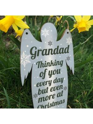 Grandad Memorial Wooden Angel In Memory Plaque Rememberance