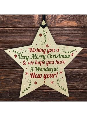 Merry Christmas Friendship Neighbour Family Friend Keepsake Gift