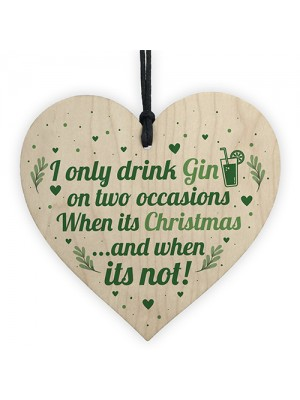 Funny Christmas Gin Sign Gift For Gin Lovers Home Bar Plaque