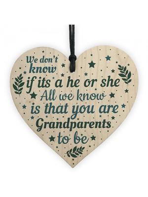 Grandparents Plaque Wooden Heart Grandma Grandpa Mum Dad Gift