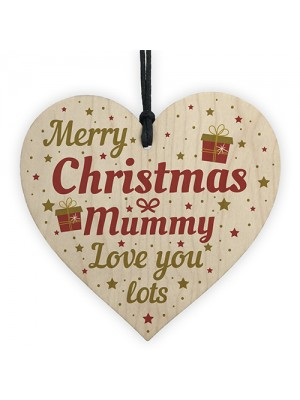 Christmas Gifts For Mum Mother Wood Heart Christmas Tree Baubles