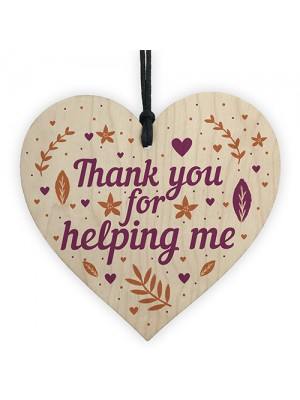 Perfect Thank You Gift For Friend Teacher Colleague Wooden Heart