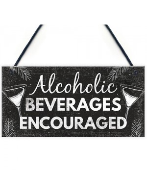 Funny Bar Sign For Home Bar Hanging Plaque Gin Vodka Gifts