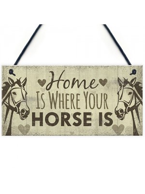 Horse Gift Hanging Plaque Cute Country Home Accessory Gift Sign