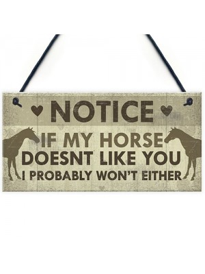 Funny Horse Gifts For Women Hanging Sign Horse Gifts For Girls