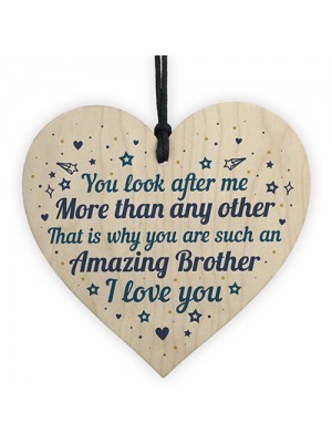 Brother Birthday Gift Heart Brother Christmas Card Gifts For Him