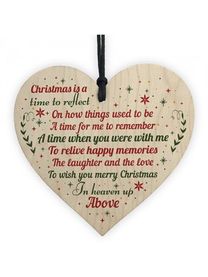 Memorial Christmas Decoration Hanging Wooden Heart Bauble