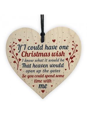 CHRISTMAS BAUBLE Memorial Heart Plaque Mum Dad Nan Grandad