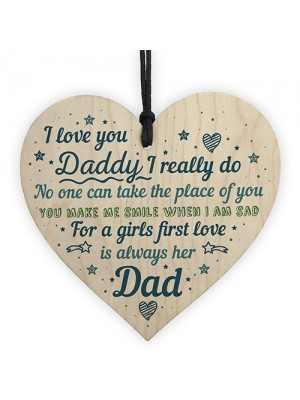 Dad Gifts From Daughter From Son Hanging Wood Heart Daddy Gift