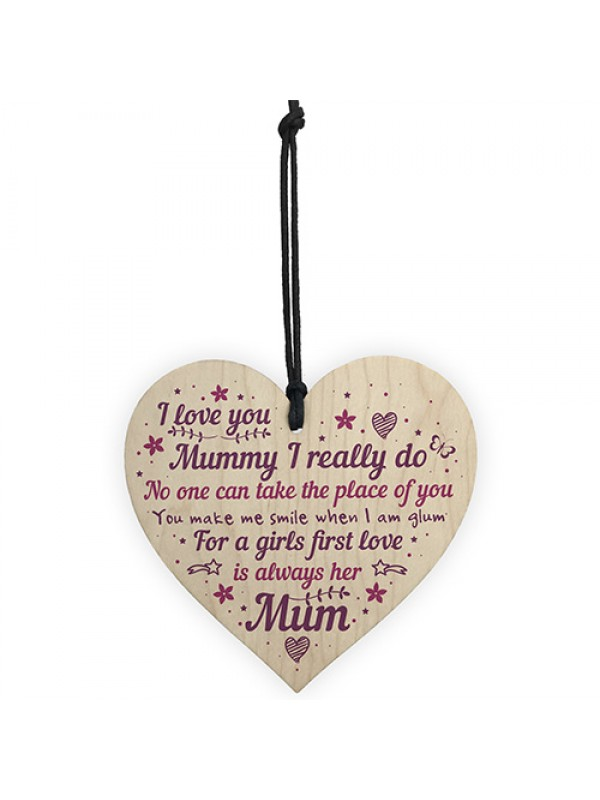 Mum Plaque Gifts From Daughter Son Wood Heart Mothers Day Gifts