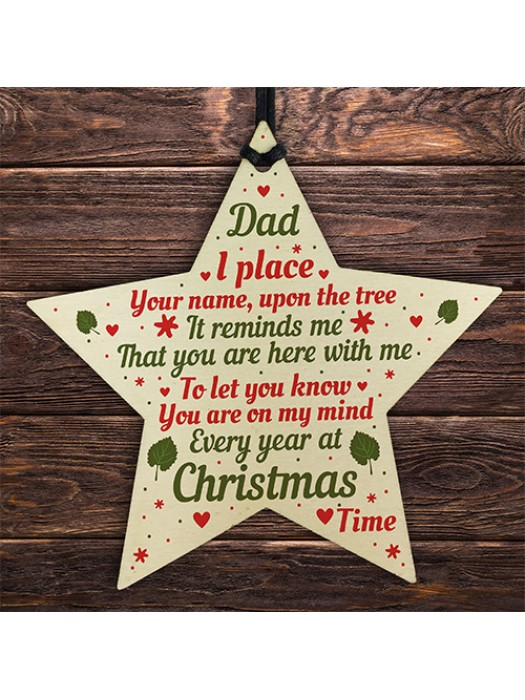 Dad Christmas Memorial Plaques Bauble Gift Tree Decoration Gift