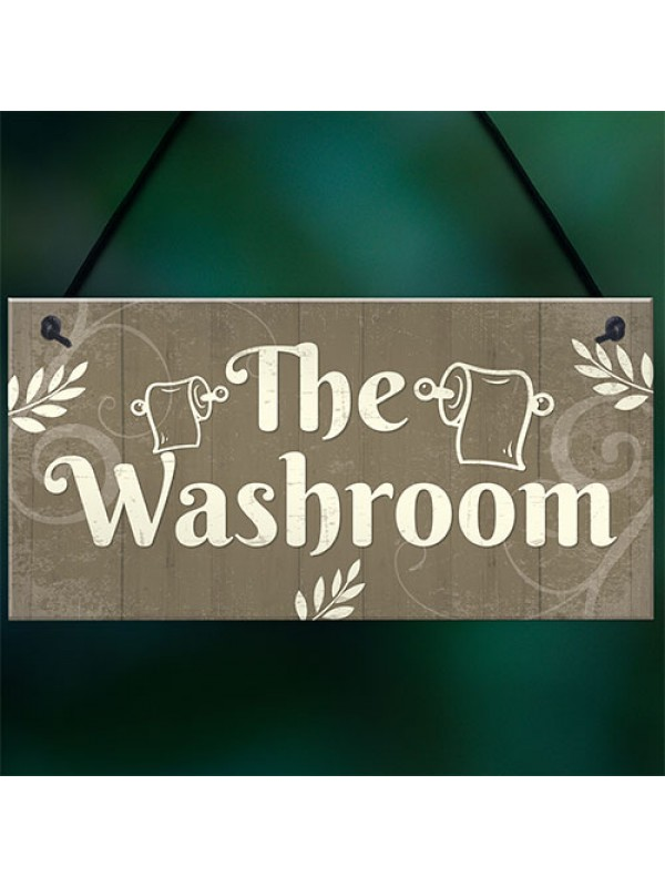 The Washroom Shabby Chic Bathroom Toilet Signs And Plaques