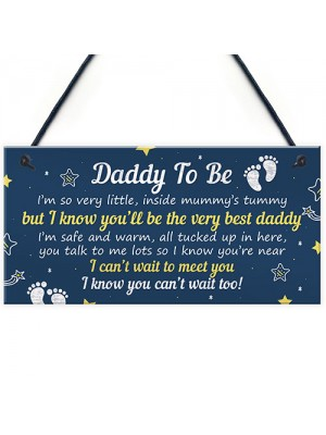 Daddy To Be Gifts From Bump Plaque Baby Shower Present To Dad