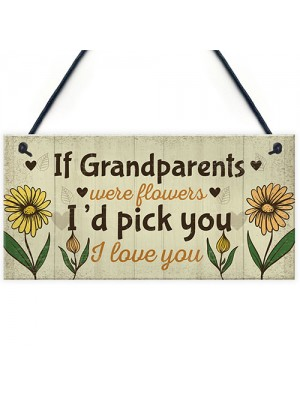 Cute Gift For Nan Grandad Sign Grandparent Plaque Keepsake Gift