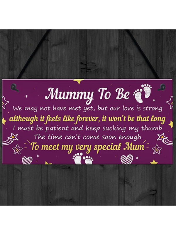 Mummy To Be Gifts From Bump Hanging Plaque Baby Shower Present