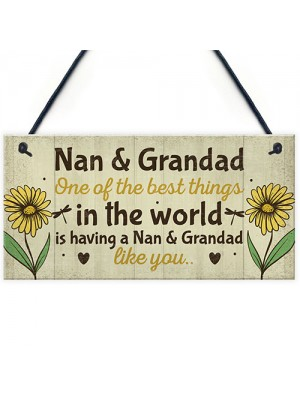 Nan And Grandad Christmas Birthday Gifts Plaque Grandparent Gift