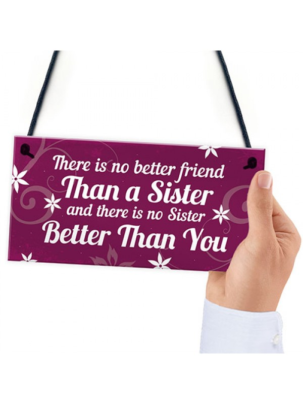 Best Friend Sister Gifts For Birthday Christmas Plaque Keepsake