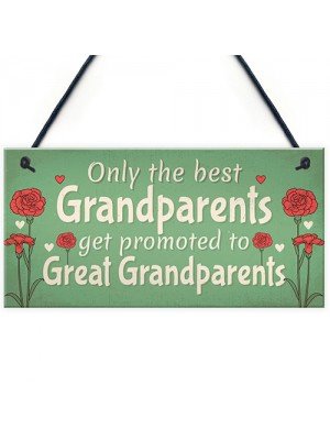 Great Grandparents Gift Sign Baby Announcement For Grandparents
