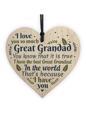 Great Grandad Ornament Heart Christmas Gift Grandad Announcement
