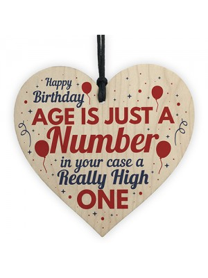 30th 40th 50th 60th Birthday Gifts For Men Women Wood Heart Sign