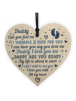 Daddy To Be Gifts From Daughter And Son Wood Heart From Bump