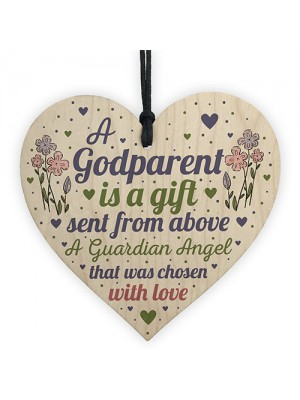 Godparent Gifts For Christening Wood Heart Christmas Decoration