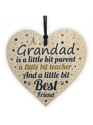 Grandad Christmas Gifts Birthday Gifts Wooden Heart Plaque Sign