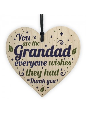 Grandad Grandma Gifts Handmade Wooden Heart Birthday Christmas
