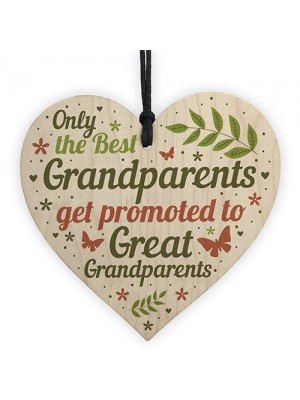 Baby Announcement Great Grandparent Gifts Heart Grandparent Sign