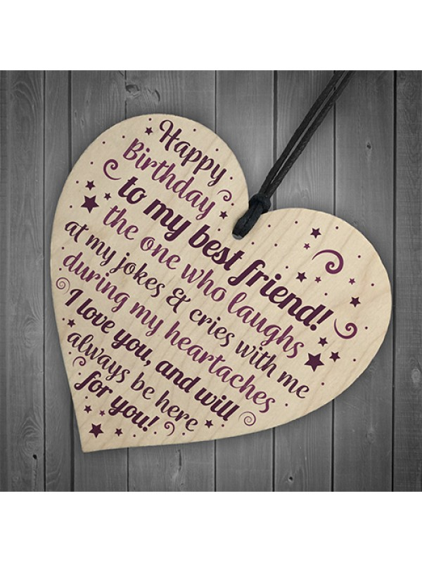 Birthday Friend Gifts Heart Special Friendship Plaque Card