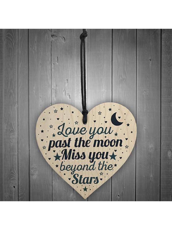 Heart Plaque Memorial Gift For Mum Dad Nan Grandad Grave Plaque