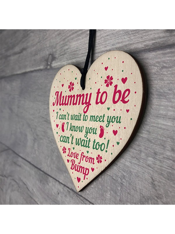 Mummy To Be Gifts Card From Bump Heart Mum Christmas Presents