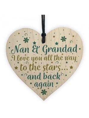 Nan And Grandad Gifts Heart Sign Birthday Christmas Card Xmas