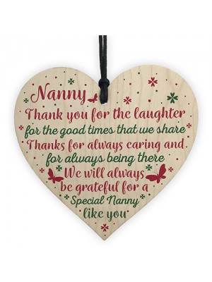 Nanny Gifts For Christmas Heart Thank You Nan Birthday Gift Sign