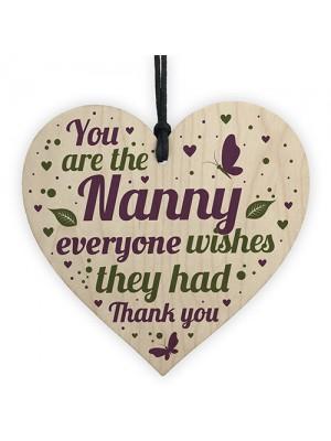 Christmas Gifts For Nan Nanny Wood Heart Xmas Gifts For Her