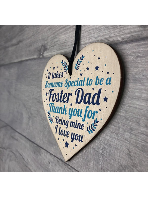Christmas Gifts For Dad Thank You Wood Heart Foster Dad Gifts