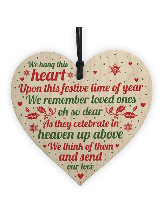 Memorial Heart Plaque For Mum Nan Dad Grandad Christmas Tree