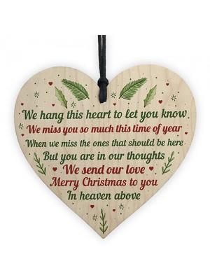 In Memory Of Mum Dad Nan Memorial Heart CHRISTMAS Tree Gift