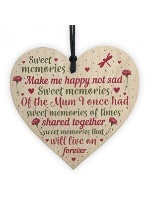 Christmas Tree Grave Memorial Ornament For Mum Wooden Heart