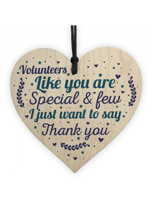 Volunteer Thank You Gift Wood Hanging Heart Gift For Colleagues