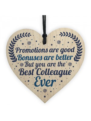 Best Colleague Thank You Plaque Heart Gift For Colleague Leaving