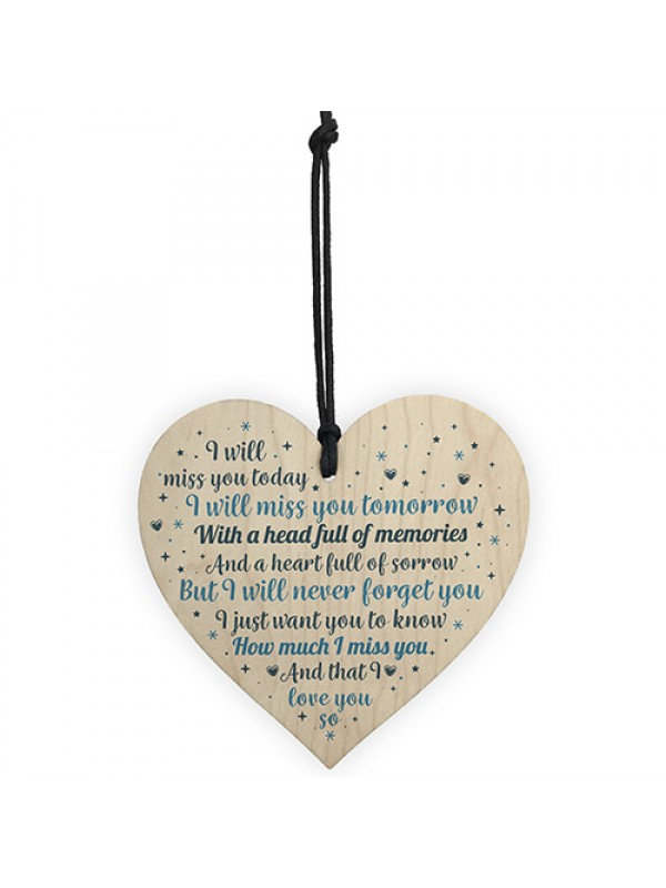 Mum Dad Grandad Friend Heart Memorial Plaque Bereavement Gift