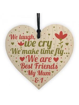 Mum Best Friend Gifts Wooden Heart Sign Christmas Birthday Gift