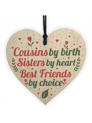 Cousin Keepsake Gift For Christmas Birthday Heart Friend Plaques